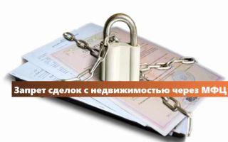 Запрет на сделки с недвижимостью через МФЦ