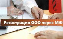 Регистрация ООО, внесение изменений в ЕГРЮЛ через МФЦ