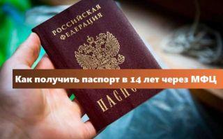 Получить паспорт в 14 лет в МФЦ