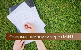 Регистрация земельного участка в МФЦ