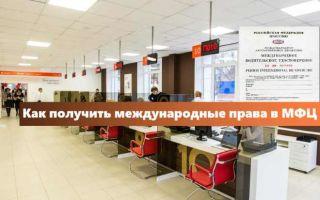 Международные водительские права в МФЦ